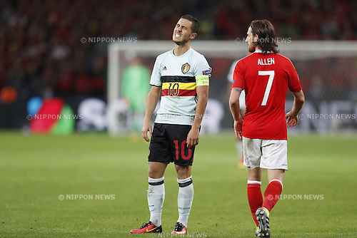 Eden Hazard (BEL), JULY 1, 2016 - Football / Soccer : Hazard dejected after miss shot on UEFA EURO 2016 Quarter-finals match between Wales 3-1 Belgium at the Stade Pierre Mauroy in Lille Metropole, France. (Photo by Mutsu Kawamori/AFLO) [3604]