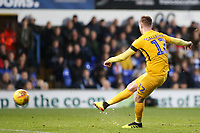 Preston North End's Paul Gallagher scores his side's first goal  to make it 1-1<br /> <br /> Photographer David Shipman/CameraSport<br /> <br /> The EFL Sky Bet Championship - Ipswich Town v Preston North End - Saturday 3rd November 2018 - Portman Road - Ipswich<br /> <br /> World Copyright &copy; 2018 CameraSport. All rights reserved. 43 Linden Ave. Countesthorpe. Leicester. England. LE8 5PG - Tel: +44 (0) 116 277 4147 - admin@camerasport.com - www.camerasport.com