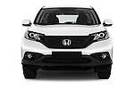 Car photography straight front view of a 2014 Honda CR-V Lifestyle 5 Door Suv Front View