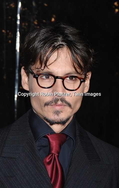 "Johnny Depp.arriving at the New York Premiere of ""Sweeney Todd"" starring Johnny Deep on December 3, 2007 at The Ziegfeld Theatre in New York City. .Robin Platzer, Twin Images"