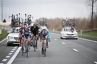 Antoine Demoiti&eacute; (BEL/Wanty-Groupe Gobert) leads the breakaway<br /> <br /> E3 - Harelbeke 2016