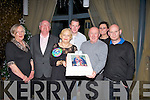 ..BIRTHDAY: Colette  Houlihan with her 60th Birthday cake on Saturday night in Ballyroe Heights Hotel, Tralee with Ita in the celebrations L-r: Bridie O'Grady, Don O'Sullivan, Colette Houlihan (birthday lady),Joan Houlihan, Francie Houlihan, Michelle Houlihan and Den Houlihan. .............