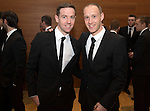 St Johnstone FC Scottish Cup Celebration Dinner at Perth Concert Hall...01.02.15<br /> Pictured are the two Scottish Cup Final goalscorers Steven MacLean (left) and Steven Anderson.<br /> Picture by Graeme Hart.<br /> Copyright Perthshire Picture Agency<br /> Tel: 01738 623350  Mobile: 07990 594431
