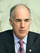 "United States Senator Bob Casey (Democrat of Pennsylvania), listens as Janet L. Yellen, Chair, Board of Governors of the Federal Reserve System testifies before the US Congress Joint Economic Committee  on ""The Economic Outlook"" in Washington, DC on Thursday, November 17, 2016.  In her prepared remarks Yellen stated ""With regard to the outlook, I expect economic growth to continue at a moderate pace sufficient to generate some further strengthening in labor market conditions and a return of inflation to the Committee's 2 percent objective over the next couple of years.""<br /> Credit: Ron Sachs / CNP"