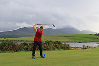 Ronan Hehir (Westport) on the 15th tee during the Final of the Junior Cup in the AIG Cups & Shields Connacht Finals 2019 in Westport Golf Club, Westport, Co. Mayo on Thursday 8th August 2019.<br /> <br /> Picture:  Thos Caffrey / www.golffile.ie<br /> <br /> All photos usage must carry mandatory copyright credit (© Golffile | Thos Caffrey)