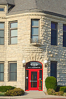 Joliet's Downtown Fires Station is made from Joliet Limestone and is one of many buidings in the area so constructed, Joliet, Will County, Illinois