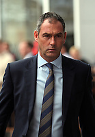 Swansea manager Paul Clement arrives prior to the game during the Premier League match between Southampton and Swansea City at the St Mary's Stadium, Southampton, England, UK. Saturday 12 August 2017