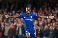 Charly MUSONDA of Chelsea celebrates scoring his goal during the Carabao Cup (Football League cup) 23rd round match between Chelsea and Nottingham Forest at Stamford Bridge, London, England on 20 September 2017. Photo by Andy Rowland.