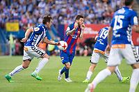 Deportivo Alaves's midfielder Manuel Alejandro Garcia  and FC Barcelona's forward Leo Messi during Copa del Rey (King's Cup) Final between Deportivo Alaves and FC Barcelona at Vicente Calderon Stadium in Madrid, May 27, 2017. Spain.<br /> (ALTERPHOTOS/BorjaB.Hojas) /NortePhoto.com