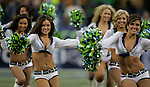 Seattle Seagals perform during a television time out in their game against the San Francisco 49ers at CenturyLink Field in Seattle, Washington on September 15, 2013. The Seattle Seahawks beat the 49ers 29-3. ©2013. Jim Bryant Photo. ALL RIGHTS RESERVED.