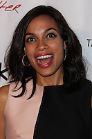 "HOLLYWOOD, CA - JANUARY 14: Rosario Dawson at the Los Angeles Screening of Roadside Attractions & Day 28 Films' ""Gimme Shelter"" held at the Egyptian Theatre on January 14, 2014 in Hollywood, California. (Photo by Xavier Collin/Celebrity Monitor)"