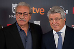 Edward James Olmos and Enrique Cerezo attends to the photocall before the press conference with the honorific award of Platinos Awards 2017 in Madrid, July 21, 2017. Spain.<br /> (ALTERPHOTOS/BorjaB.Hojas)