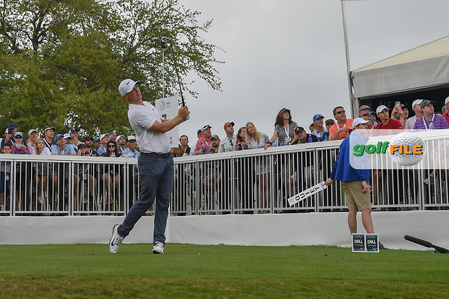 Alex Noren (SWE) watches his tee shot on 7 during day 5 of the World Golf Championships, Dell Match Play, Austin Country Club, Austin, Texas. 3/25/2018.<br /> Picture: Golffile | Ken Murray<br /> <br /> <br /> All photo usage must carry mandatory copyright credit (© Golffile | Ken Murray)