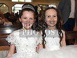 Carla Conlon and Lily Nolan from Donacarney school who recieved first holy communion in the Star of the Sea church Mornington. Photo:Colin Bell/pressphotos.ie