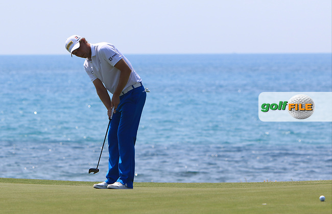 Marcel Siem (GER) on the 7th green during Round 1 of The Rocco Forte Open  at Verdura Golf Club on Thursday 18th May 2017.<br /> Photo: Golffile / Thos Caffrey.<br /> <br /> All photo usage must carry mandatory copyright credit     (&copy; Golffile | Thos Caffrey)
