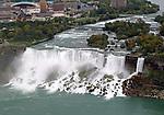 The American and Bridal Veil Falls of the Niagara Falls.