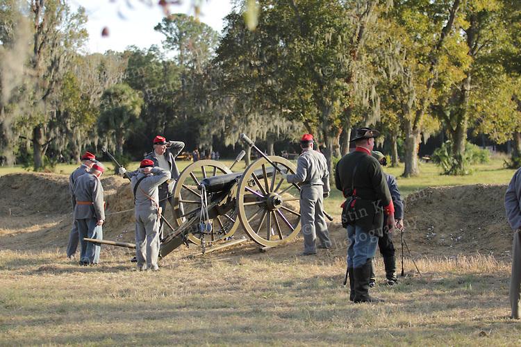 Civil War Charleston South Carolina Battle of Secessionville Reinactment at Boone Hall Plantation Mt Pleasant