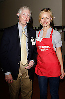April 2, 2010: Anya Monzikova and Steve Ruppe at the LA Mission Easter Luncheon event for the homeless in Los Angeles, California. .Photo by Nina Prommer/Milestone Photo.