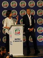Manifestazione elettorale di Forza Italia a sostegno del candidato sindaco del centrodestra nelle prossime elezioni amministrative<br /> Mara Carfagna  Gianni Lettieri