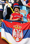 13 JUN 2010: Serbia fan. The Serbia National Team lost 0-1 to the Ghana National Team at Loftus Versfeld Stadium in Tshwane/Pretoria, South Africa in a 2010 FIFA World Cup Group D match.