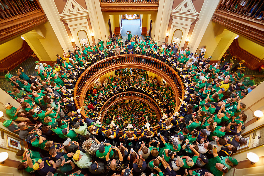 September 1, 2018; Trumpets Under the Dome on a Football Saturday. (University of Notre Dame photo)