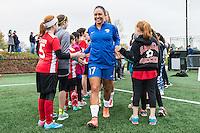 Allston, MA - Saturday, May 07, 2016: Boston Breakers midfielder Kyah Simon (17) before a regular season National Women's Soccer League (NWSL) match at Jordan Field.