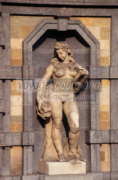 Europe/Belgique/Flandre/Province d'Anvers/Anvers : Maison de Rubens et le jardin - Détail statue