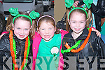 ENJOYING: Enjoying the Abbeydorney St Patricks Day Parade on Monday l-r: Megan O'Leary, Rebecca O'Dowd and Cladaigh O'Leary.