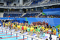 USA team group, <br /> AUGUST 13, 2016 - Swimming : <br /> the Rio 2016 Olympic Games at Olympic Aquatics Stadium in Rio de Janeiro, Brazil. <br /> (Photo by Yohei Osada/AFLO SPORT)