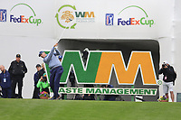 Matt Kucher (USA) on the 17th tee during the final round of the Waste Management Phoenix Open, TPC Scottsdale, Scottsdale, Arisona, USA. 03/02/2019.<br /> Picture Fran Caffrey / Golffile.ie<br /> <br /> All photo usage must carry mandatory copyright credit (&copy; Golffile | Fran Caffrey)