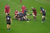 Henry Pyrgos of Edinburgh in action during the Guinness Pro14 Round 11 match between the Scarlets and Edinburgh Rugby at the Parc Y Scarlets in Llanelli, Wales, UK. Saturday 15 February 2020