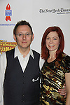 Michael Emerson (Person of Interest & Lost) and wife Carrie Preston (True Blood) attend the 25th Annual Broadway Flea Market & Grand Auction to benefit Broadway Cares/Equity Fights Aids on September 25, 2011 in New York City, New York.  (Photo by Sue Coflin/Max Photos)
