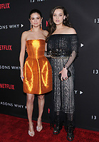 "30 March 2017 - Los Angeles, California - Selena Gomez, Katherine Langford.  Premiere Of Netflix's ""13 Reasons Why"" held at Paramount Studios in Los Angeles. Photo Credit: Birdie Thompson/AdMedia"