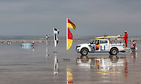 Devon holidaymakers enjoy the heatwave at the Westward Ho! beach, Devon while RNLI lifeguards keep watch during their busiest weekend in four years., UK on August 9th 2020<br /> <br /> Photo by Stuart Hogben