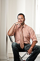 Dr. Nathan Wolfe pictures: Executive portrait photography of Nathan Wolfe, founder of GVFI Global Viral Forecasting Initiative, by San Francisco corporate photographer Eric Millette