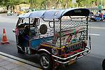 A tuk-tuk in Bangkok, Thailand