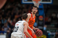 VALENCIA, SPAIN - FEBRUARY 28: Guillem Vives, Jaycee Carroll during ENDESA LEAGUE match between Valencia Basket Club and Real Madrid at Fonteta Stadium on   February, 2016 in Valencia, Spain
