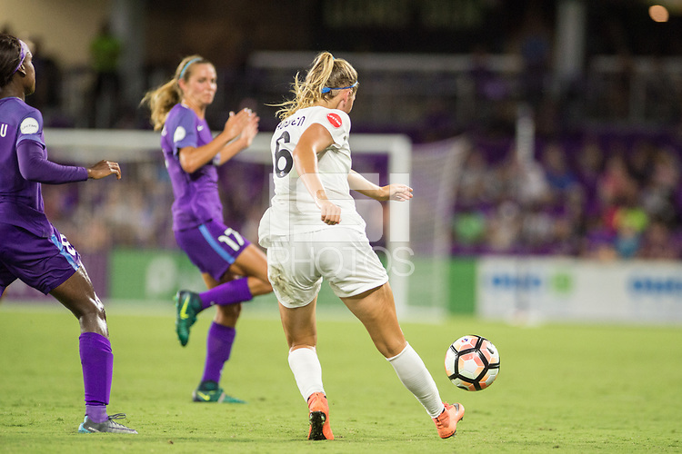 Orlando, FL - Saturday July 15, 2017: Katie Bowen during a regular season National Women's Soccer League (NWSL) match between the Orlando Pride and FC Kansas City at Orlando City Stadium.