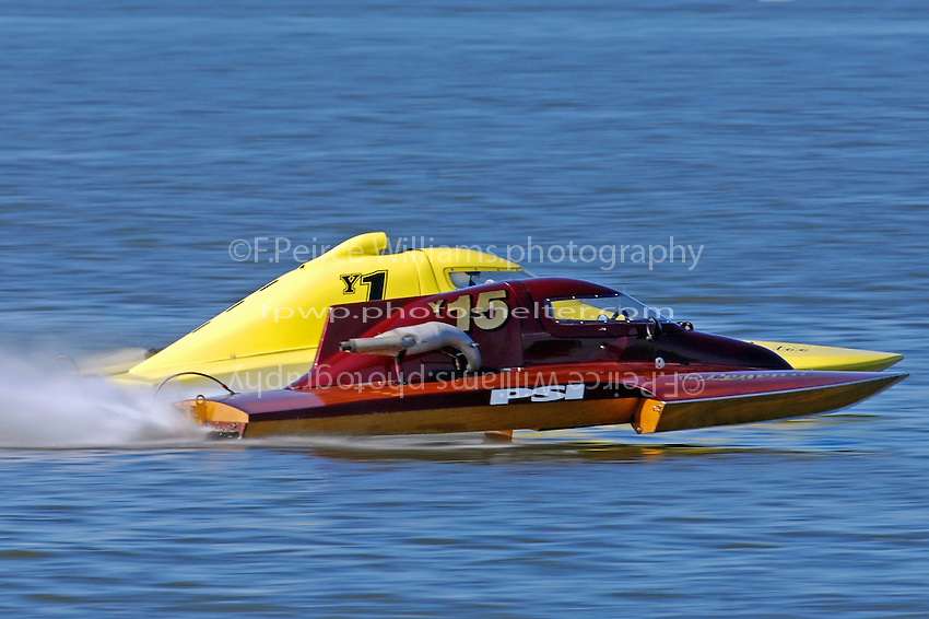 """Terry Browning, Y-15 """"the Legend"""" and Dan Kanfoush, Y-1  (1.5 Litre MOD hydroplane(s)"""