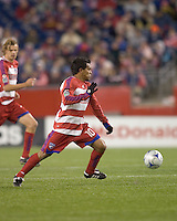 FC Dallas forward/midfielder David Ferreira (10). The New England Revolution defeated FC Dallas, 2-1, at Gillette Stadium on April 4, 2009. Photo by Andrew Katsampes /isiphotos.com