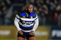 Beno Obano of Bath Rugby looks on during a break in play. Anglo-Welsh Cup match, between Bath Rugby and Leicester Tigers on November 4, 2016 at the Recreation Ground in Bath, England. Photo by: Patrick Khachfe / Onside Images