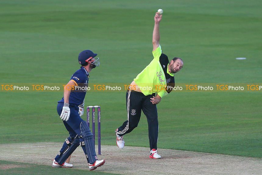 Nick Browne in bowling action for Essex during Essex Eagles vs Premier Leagues XI, T20 Friendly Match Cricket at The Cloudfm County Ground on 4th July 2017 Nick Browne in bowling action for the Premier Leagues XI during Essex Eagles vs Premier Leagues XI, T20 Friendly Match Cricket at The Cloudfm County Ground on 4th July 2017