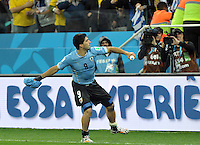 Sao Paulo- June 19 2014: Uruguay defeated England, 2-1, in their Group D match of the 2014 FIFA World Cup in Arena de Sao Paulo.