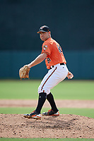 Baltimore Orioles pitcher Collin Woody (84) delivers a pitch during a Florida Instructional League game against the Pittsburgh Pirates on September 22, 2018 at Ed Smith Stadium in Sarasota, Florida.  (Mike Janes/Four Seam Images)