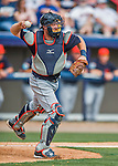 5 March 2016: Detroit Tigers catcher Bryan Holaday in action during a Spring Training pre-season game against the Washington Nationals at Space Coast Stadium in Viera, Florida. The Tigers fell to the Nationals 8-4 in Grapefruit League play. Mandatory Credit: Ed Wolfstein Photo *** RAW (NEF) Image File Available ***