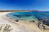 Alyko Beach (Saint George) in Naxos island, Greece