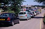 AJDNB6 Traffic queue Walberswick Suffolk England