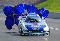 Jun. 19, 2011; Bristol, TN, USA: NHRA funny car driver Robert Hight during eliminations at the Thunder Valley Nationals at Bristol Dragway. Mandatory Credit: Mark J. Rebilas-