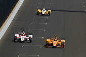 Verizon IndyCar Series<br /> Indianapolis 500 Carb Day<br /> Indianapolis Motor Speedway, Indianapolis, IN USA<br /> Friday 26 May 2017<br /> Fernando Alonso, McLaren-Honda-Andretti Honda<br /> World Copyright: Phillip Abbott<br /> LAT Images<br /> ref: Digital Image abbott_indy_0517_27941