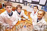 Sean McKenna, Mark Fealey, Rebecca Bambury and Amy O'Connor enjoying Science week in Listowel Community College last week.